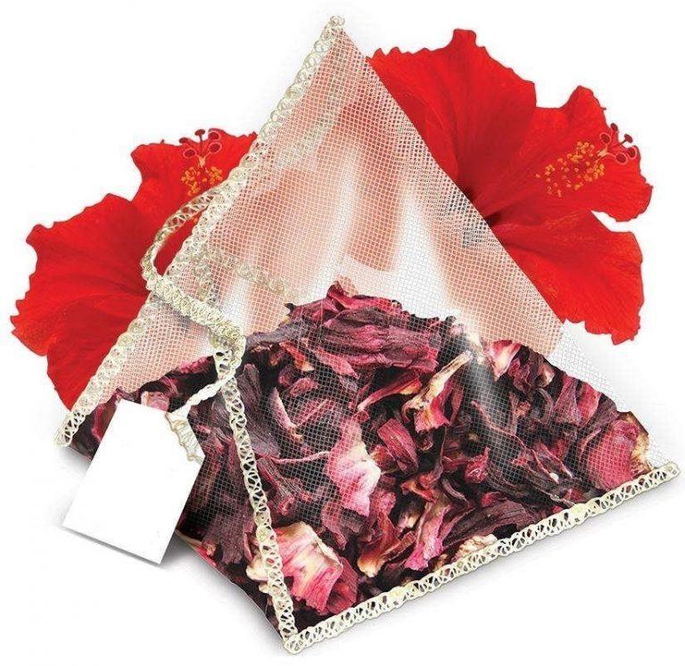Hibiscus tea pyramids bags